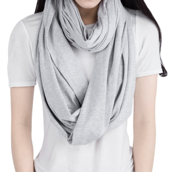 Multifunctional Pure Color Nursing Cover Scarf for Women Breastfeeding - 2