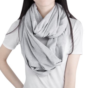 Multifunctional Pure Color Nursing Cover Scarf for Women Breastfeeding - 3