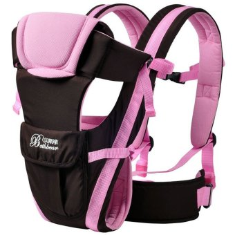 Multifunctional Ventilate Adjustable Buckle Mesh Wrap Baby Carrier Backpack