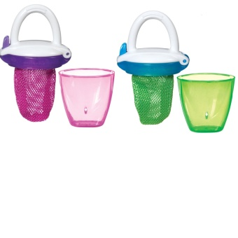 Munchkin Deluxe Fresh Food Feeder (Green & Pink)