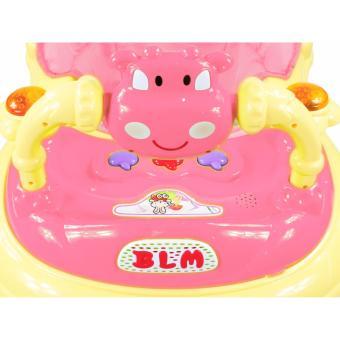 Musical 8-Wheeled Baby Walker (Pink) - 3