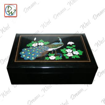 Musical Lacquere Jewelry Musical Box Peacock 329-B1 (Black) Price Philippines