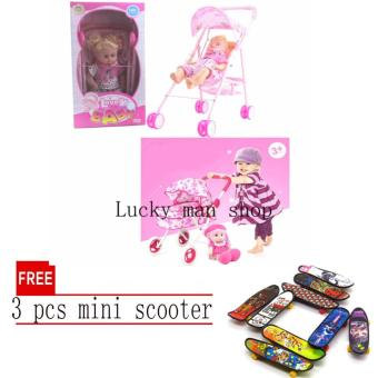 My Baby Alive Doll (Pink) with sound BIG SIZE with free 3 pcs miniscooter Price Philippines