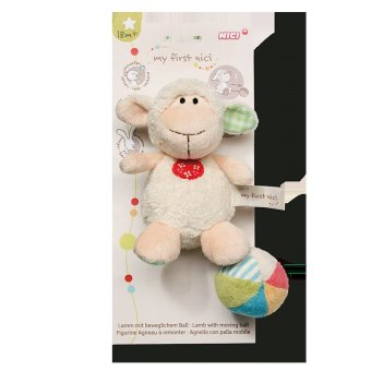 My First NICI Lamb Plush Toy with Moving Ball