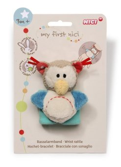 MY FIRST NICI Wrist Rattle - Owl - 2