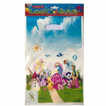 My Little Pony Party Favor Plastic Loot Bag 3 packs