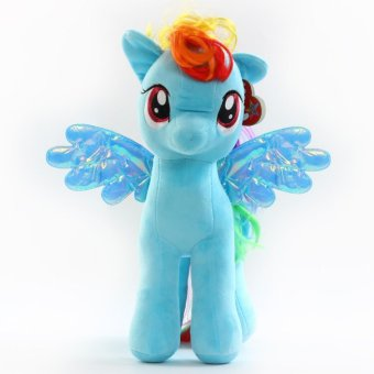 My Little Pony pony Baoli rainbow plush toy doll(blue 18cm) - intl