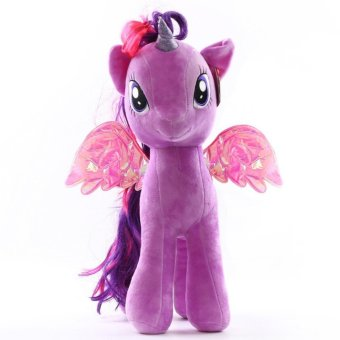 My Little Pony pony Baoli rainbow plush toy doll(purple 18cm) - intl