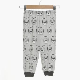 Nap Baby Boys Tigers Pajama Set (Gray) - 4