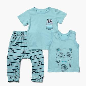 Nap Boys Panda Pajama Set (Turquoise) Price Philippines