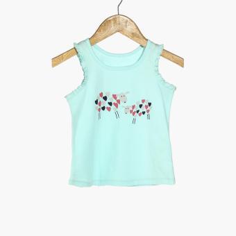 Nap Girls Sheep Pajama Set (Turquoise) - 4