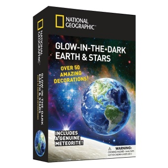 National Geographic Glow In The Dark 3D Earth and Stars Toy