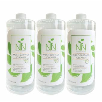Nature to Nurture Multi Surface Cleaner 1000ml refill pack of 3
