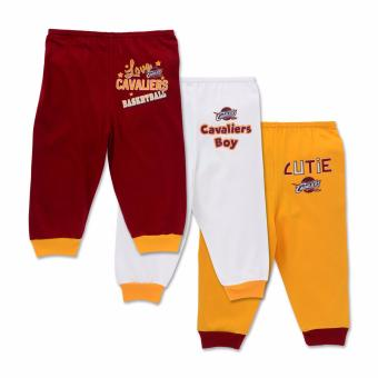 NBA Baby - 3-piece Pajama Pants (Cutie-Cavaliers) - 100% cotton 3-6 Months