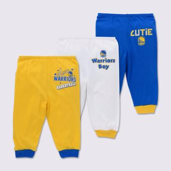 NBA Baby - 3-piece Pajama Pants (Cutie-Warriors) - 100% cotton 6-9 Months