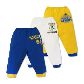 NBA Baby - 3-piece Pajama Pants (Warriors Basketball) 6-9 Months