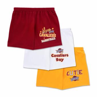 NBA Baby - 3-piece Shorts (Cutie-Cavaliers) - 100% cotton 6-9 Months