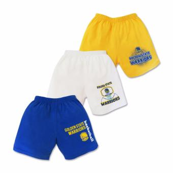 NBA Baby - 3-piece Shorts (Warriors Basketball) 6-9 Months