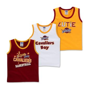 NBA Baby - 3-piece Sleeveless Tank (Cutie-Cavaliers) - 100% cotton 9-12 Months