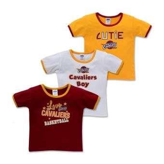 NBA Baby - 3-piece T-Shirt (Cutie-Cavaliers) - 100% cotton 3-6 Months