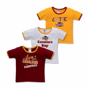 NBA Baby - 3-piece T-Shirt (Cutie-Cavaliers) - 100% cotton 6-9 Months