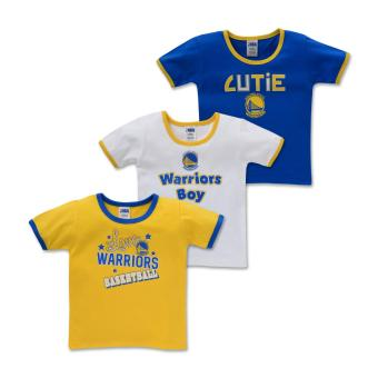 NBA Baby - 3-piece T-Shirt (Cutie-Warriors) - 100% cotton 9-12 Months
