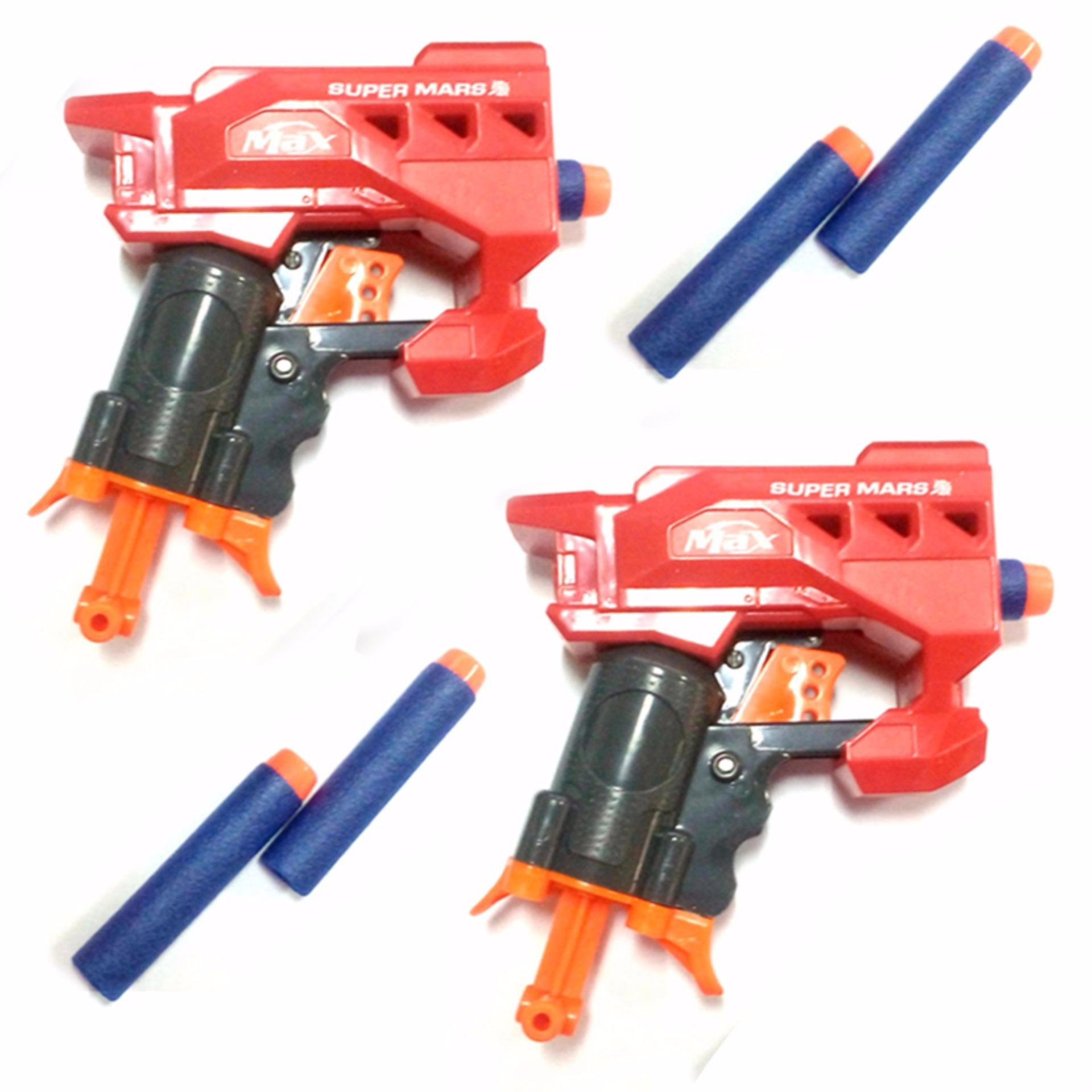 Philippines Nerf Gun Super Mars Soft Bullet Toy Set Of 2 Bundle Showdownred