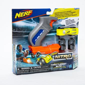 Nerf Nitro Throttleshot Blitz Blaster (Orange/Gray)