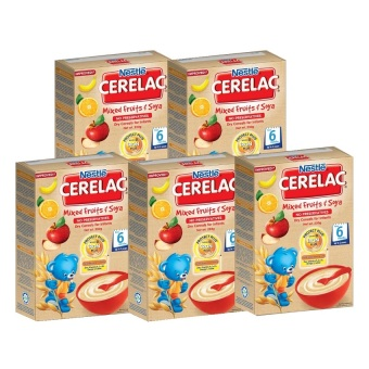 NESTLE(R) CERELAC(R) Mixed Fruits & Soya 250g (Pack of 5)