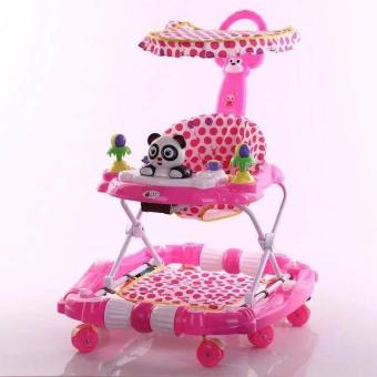 New 2017 Baby Play 3 in 1 Walker, Stroller and Rocker (Pink)