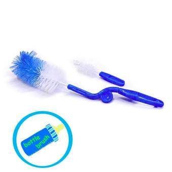 New 2017 Best Quality Baby Babies Bottle Brush and Nipple Brush-BLUE