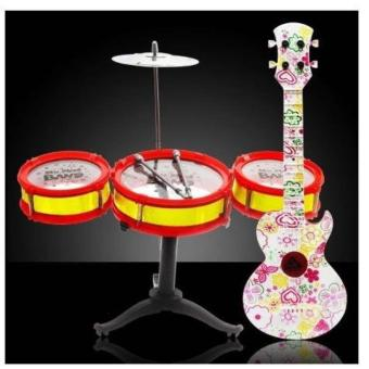 New 2017 Best Quality Drum Set with Fancy Guitar Playset