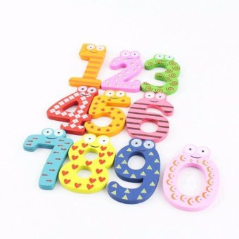 New 2017 Best Store Baby Shop Learning Numbers WOODEN MAGNET (1set)