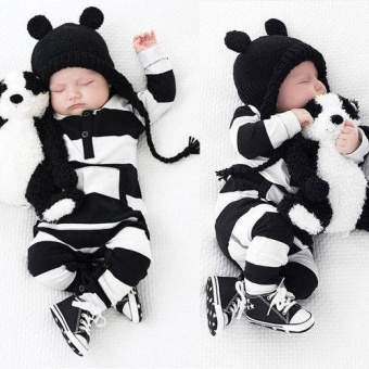 New Baby Boys Girls Newborn Striped Romper Outfit Bodysuit JumpsuitClothes 0-3 Years - intl