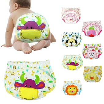 New Baby Infant Printed Cloth Diapers Reusable Nappy Washable SnapNappy - intl