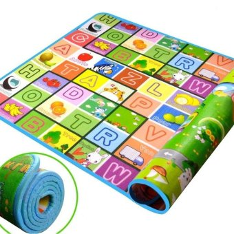 New Baby Kids Floor Foam Crawl Mat Children Carpet Playmat BlanketRug 180x200CM wishagoodwish (Color: Multicolor) - intl