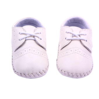 New Baby Shoes Infants Boy Handmade Stitch Pu Shoes Babe Slip-onFirst Walkers Kids Footwear White
