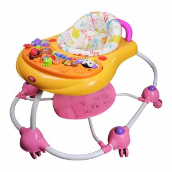 New Bossney Cute Musical Baby Walker Insect Party XB201U(Orange)