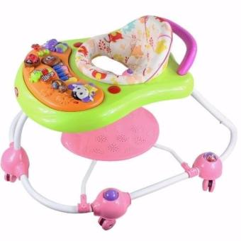 New Bossney Cute Musical Baby Walker Insect Party XB202U (Pink)