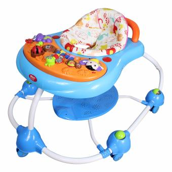 New Bossney Cute Musical English Version Baby Walker Insect Party XB201U(Blue)