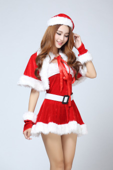 New Candy Christmas Costume sexy Santa Claus women red suits - intl - 2