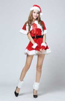 New Candy Christmas Costume sexy Santa Claus women red suits - intl - 5