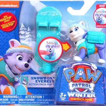 New Cute Kid Children Paw Patrol Everest Action Pup Ski board Toy Gift - intl