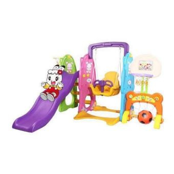 New Design Safety 5 in 1 Kids Playground Set Slide Swing BasketballSoccer Price Philippines