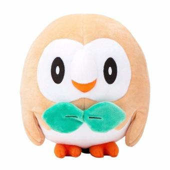 New Hot 17cm Pokemon Center Rowlet Plush Toy Soft Stuffed Animal Doll for kid - intl