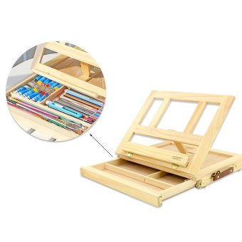 New Hot Sale Fashion Easel Artist Craft with Integrated Wooden BoxArt Drawing Painting Table Box for 26*33.7 Cm - intl