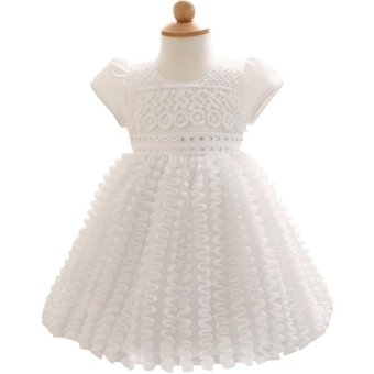Eozy Newborn Baby Girl Princess Dress Wedding Dress Flower Girl Cotton Dress Infant Baby Birthday Dress Pink Intl - Daftar Update Harga Terbaru Indonesia