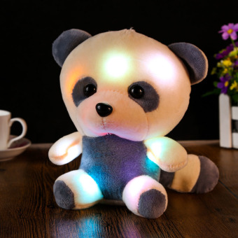 New Large Bear Doll Bear Hug Colorful Flash Light, Plush Toy Panda