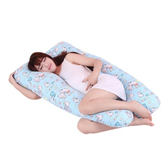 New Maternity Pregnancy Boyfriend Arm Body Sleeping Pillow Case Covers Sleep U Shape Cushion Cover - intl