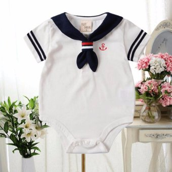 New SAILOR Unisex Baby Bodysuit Rompers One Piece Clothes Toddler Outfit Costume - intl